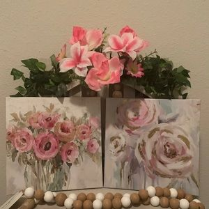 Farmhouse canvas picture decor set